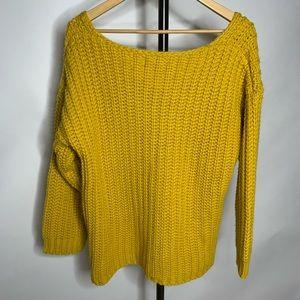 Lulu's Sweaters - Lulus Charm Me Mustard Yellow Chunky Knit Sweater